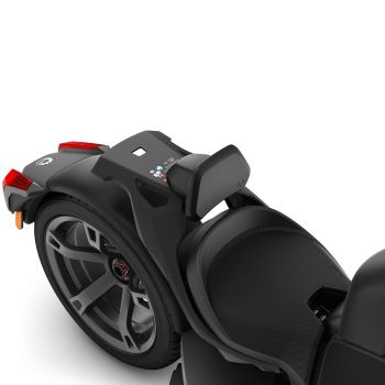 Fahrer-Rückenlehne für Nutzung als Einsitzer