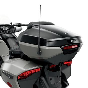 Topcase mit integrierter Beifahrer-Rückenlehne - Black